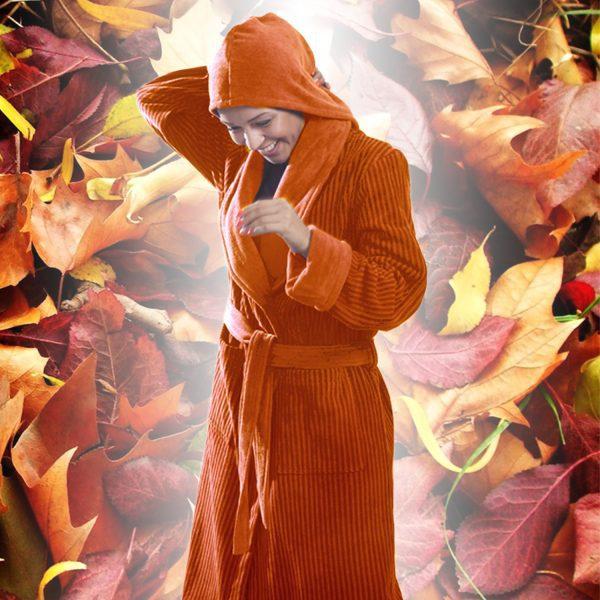 حوله کلاه دار شیک نارنجی پودایران
